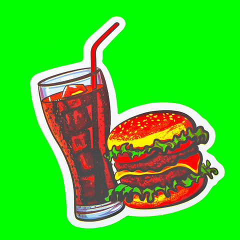 Burgers & Fries Sticker - More Styles!