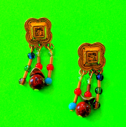 Aztec Dangle Earrings