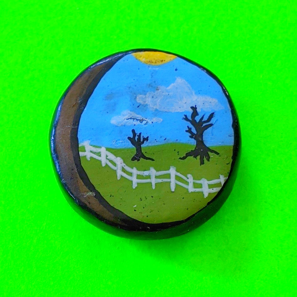 Spooky Folk Art Pin