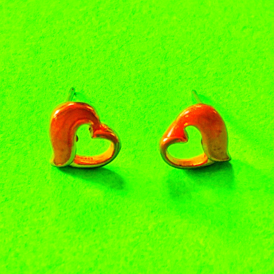 Sweetheart Enamel Earrings
