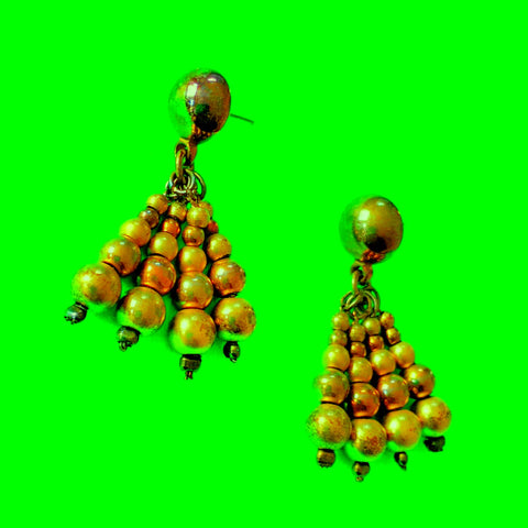 Bronze Beaded Earrings