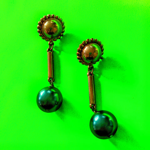 Big Green Balls Earrings