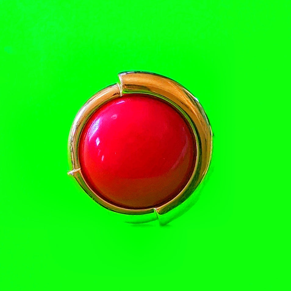 Retro Red Circle Ring