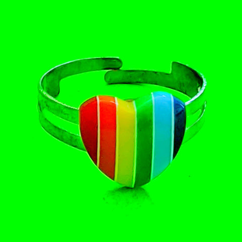 Rainbow Striped Ring - More Styles!