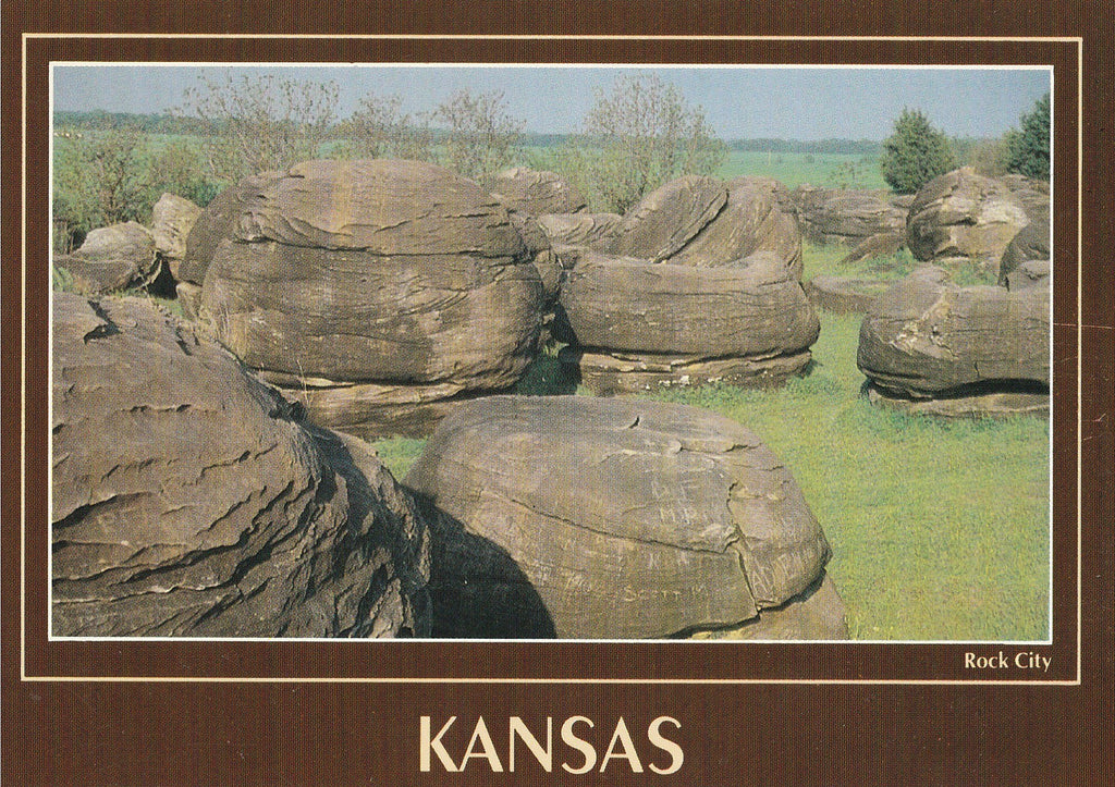 USA - Kansas - Rock City Postcard
