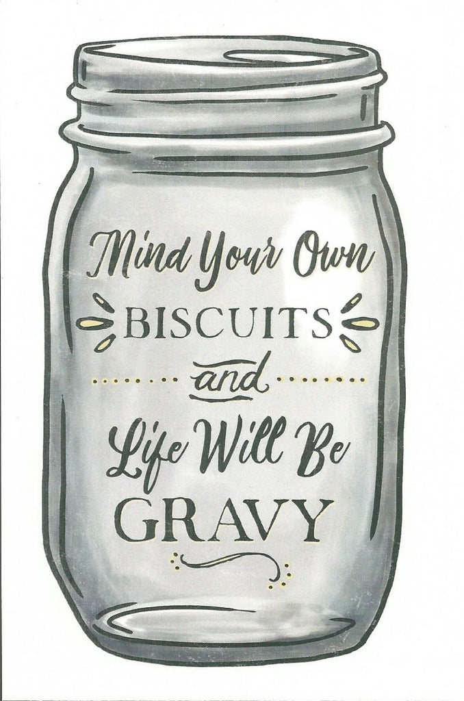 Mind Your Own Biscuits Postcard