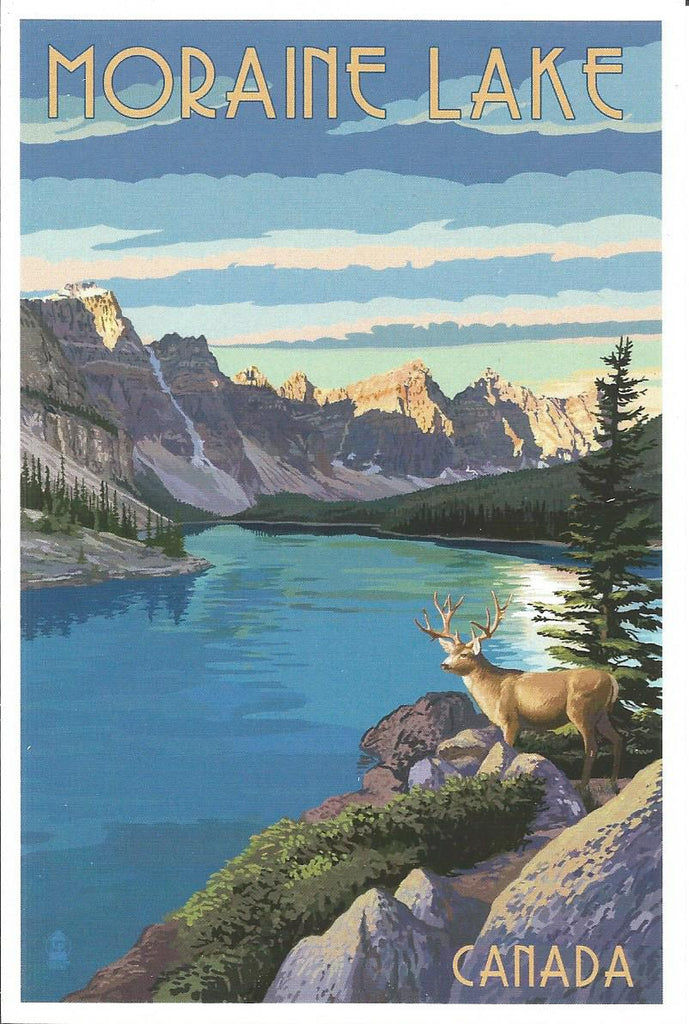 Alberta - Moraine Lake Postcard