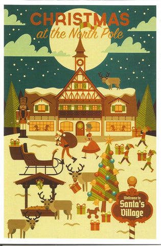 Christmas at the North Pole Postcard
