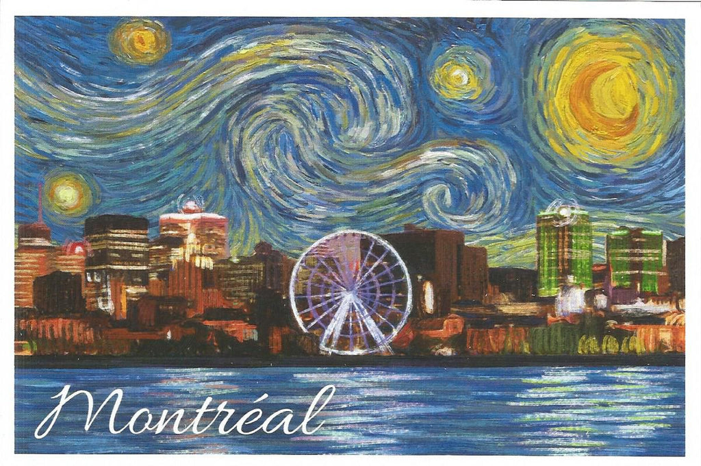 Montreal - Starry Night Postcard