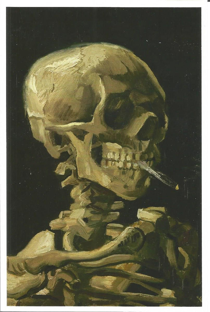 Head of a Skeleton with a Burning Cigarette Postcard