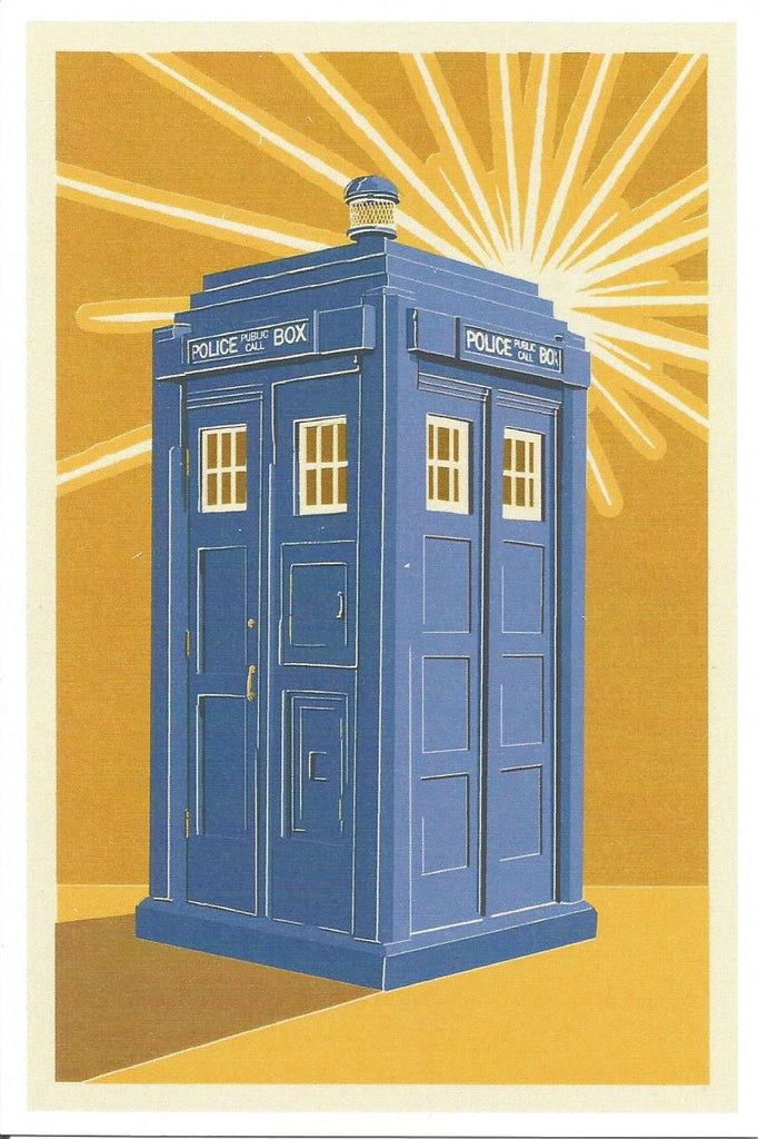 British Police Call Box Postcard