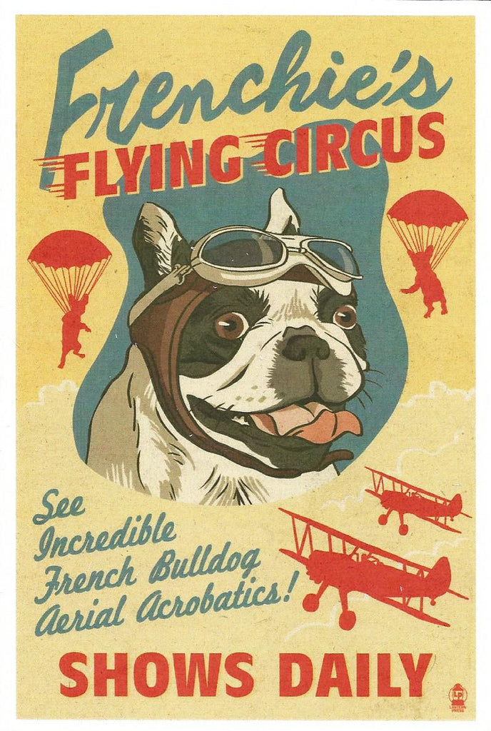 Frenchie's Flying Circus Postcard