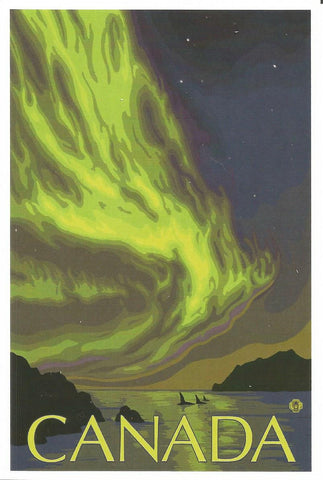 Canada - Northern Lights & Orca Postcard