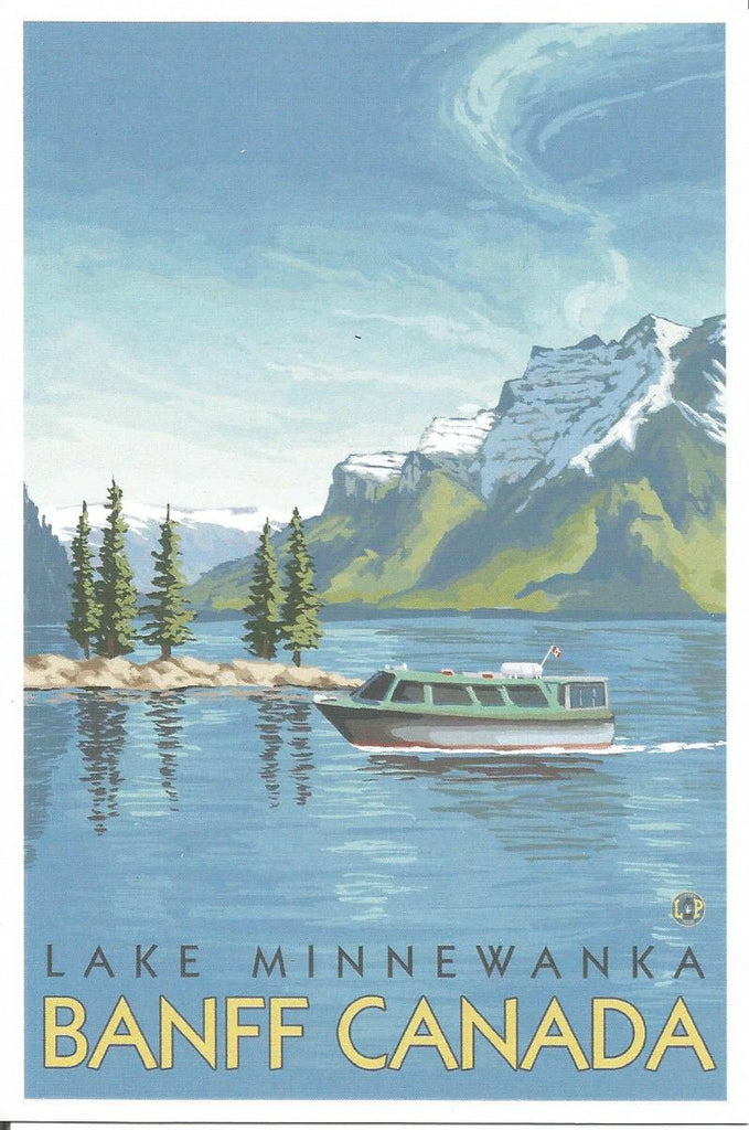 Banff - Lake Minnewanka Postcard