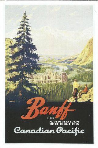 Banff in the Canadian Rockies Postcard