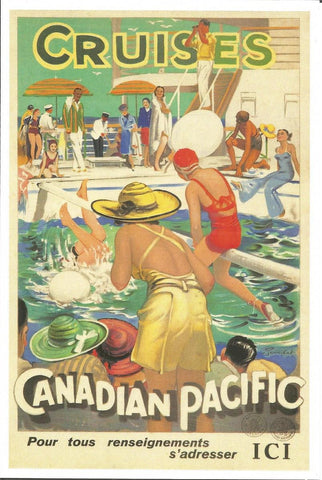 Canadian Pacific Cruises Postcard