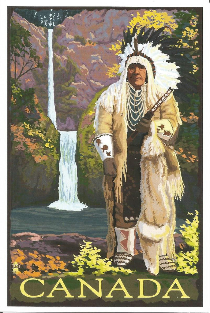 Canada - Chief in Full Dress Postcard