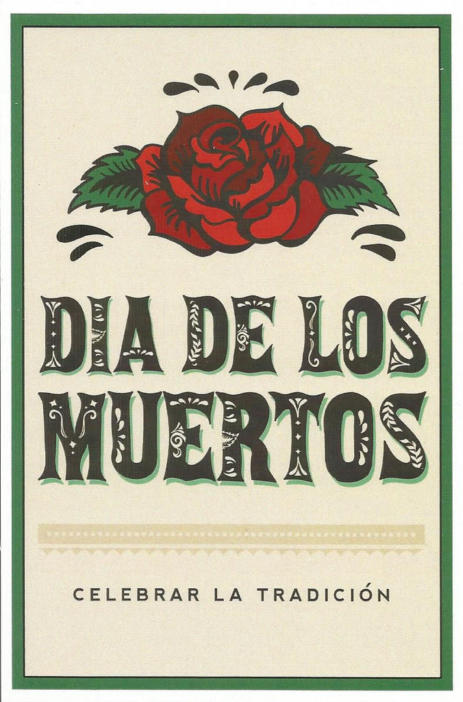 Day of the Dead - Rose Postcard