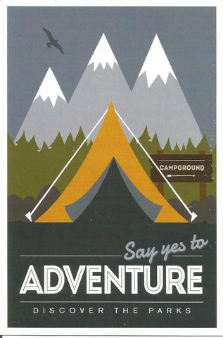 Yes to Adventure Postcard