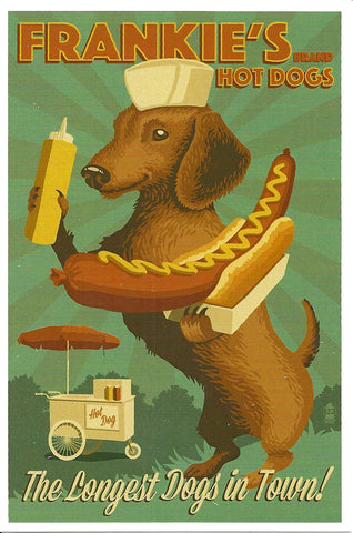 Frankie's Hot Dogs Postcard