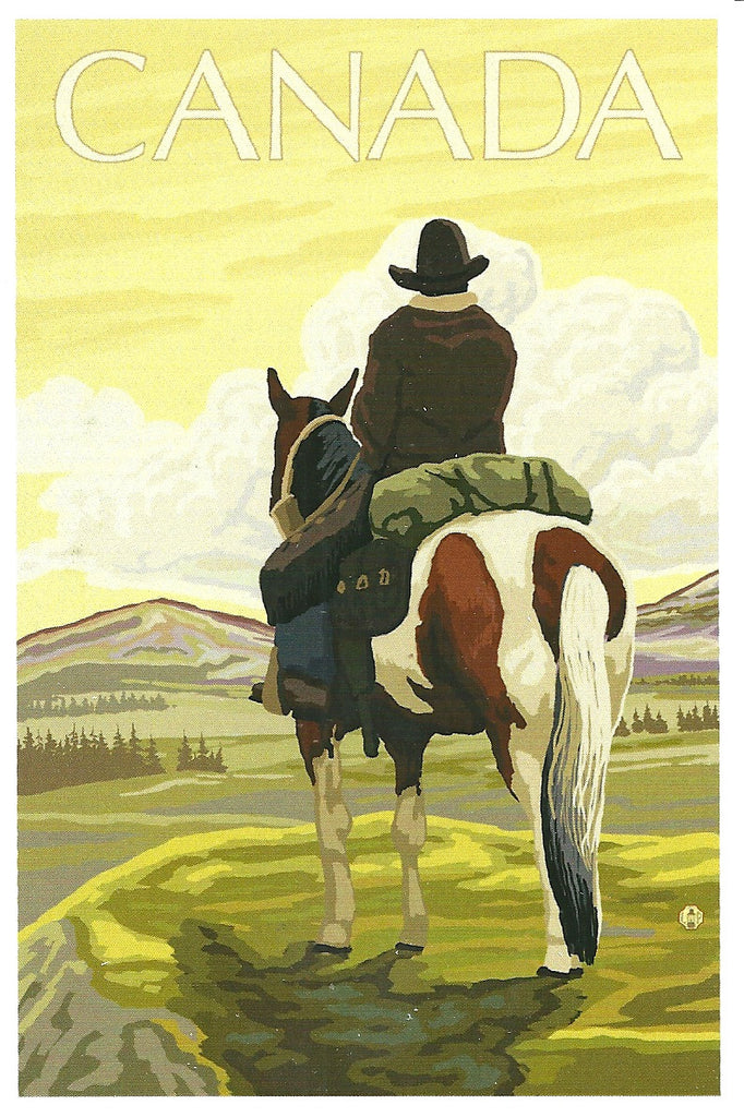 Canada - Cowboy on Horseback Postcard