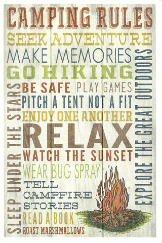 Camping Rules Postcard