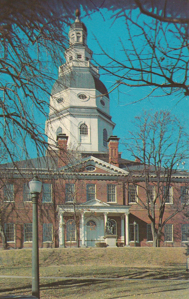 USA - Maryland - Annapolis - State House Building Postcard