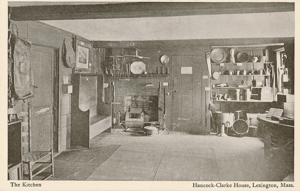 USA - Massachusetts - Lexington - Hancock Clarke House Kitchen Postcard