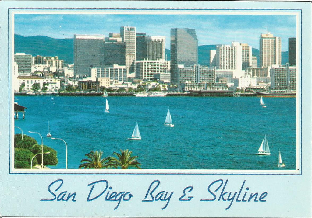 USA - California - San Diego - Bay & Skyline Postcard - More Styles!