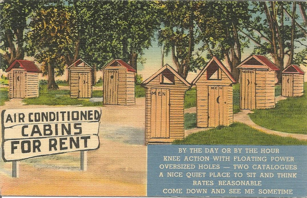 Air Conditioned Cabins Postcard