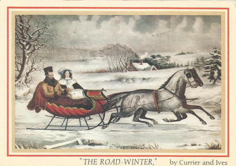 Currier and Ives Postcard Set