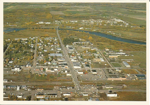 Canada - British Columbia - Vanderhoof - Aerial View Postcard