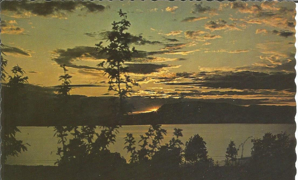 Canada - British Columbia - Fraser Valley - Lake Sunset Postcard