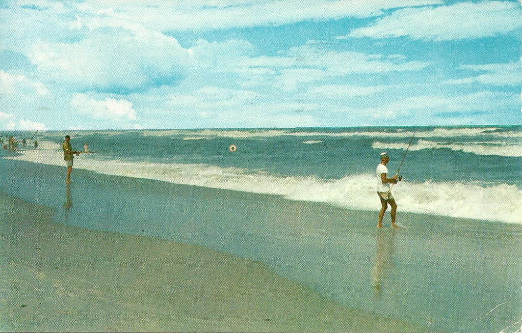 Surf Fishing Postcard