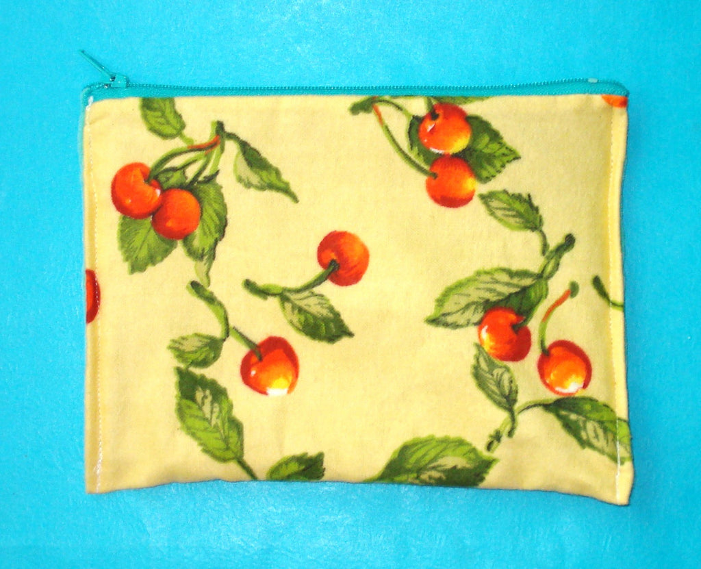 Zippered Pouch - Cherries - More Styles!
