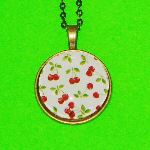 Cheery Cherries Pendant Necklace
