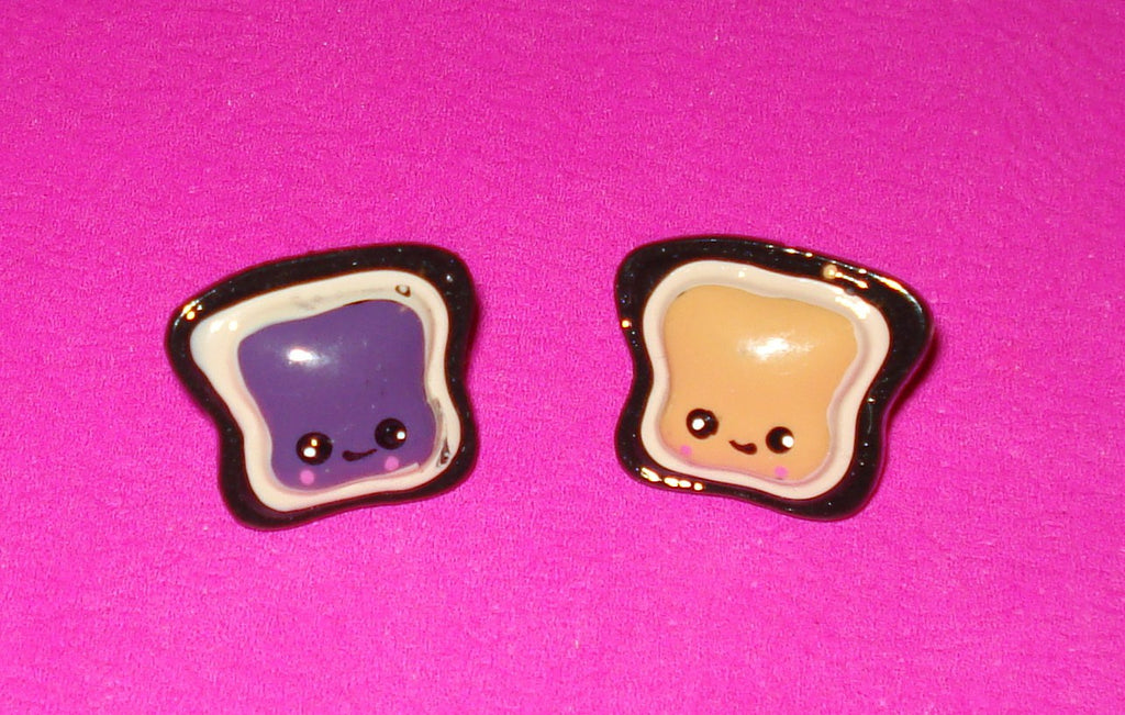 Peanut Butter Jelly Time Earrings