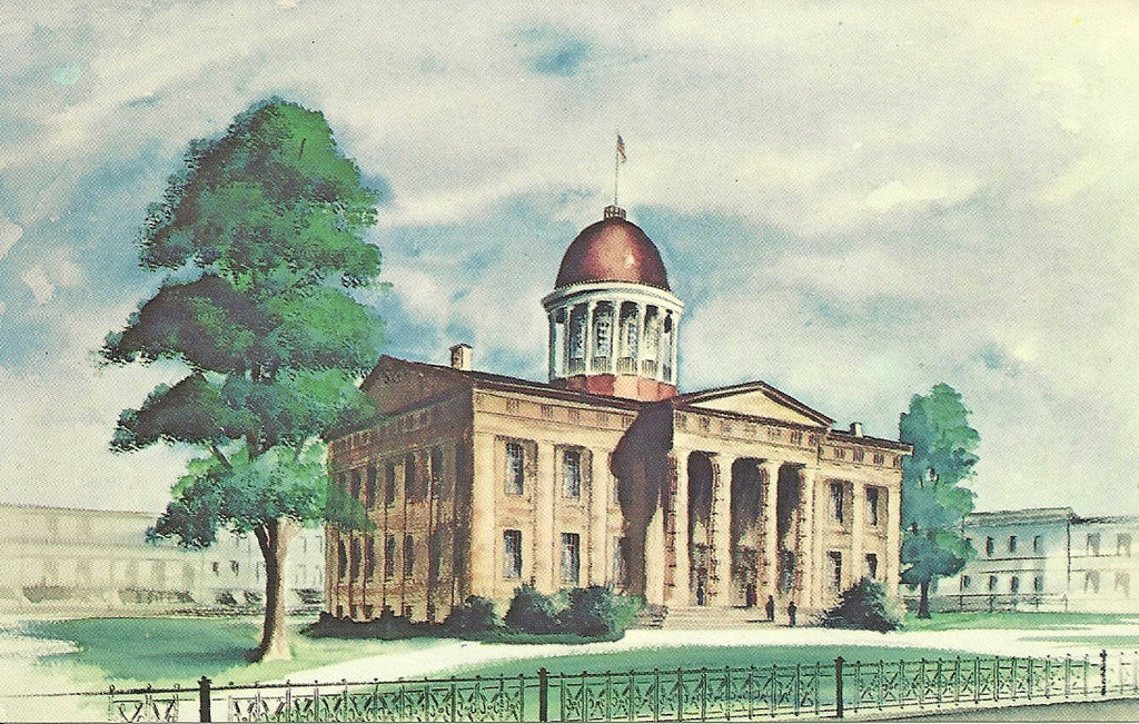USA - Illinois - Springfield - Old State Capitol Building Postcard