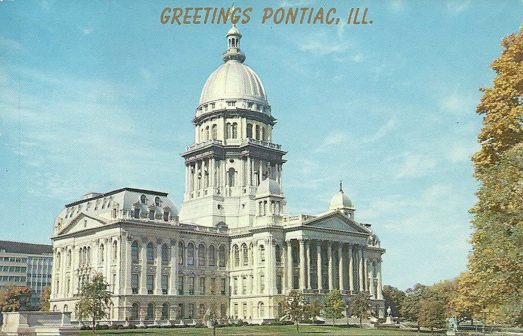 USA - Illinois - Springfield - State Capitol Postcard