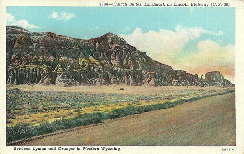USA - Wyoming - Uinta County - Church Buttes Postcard