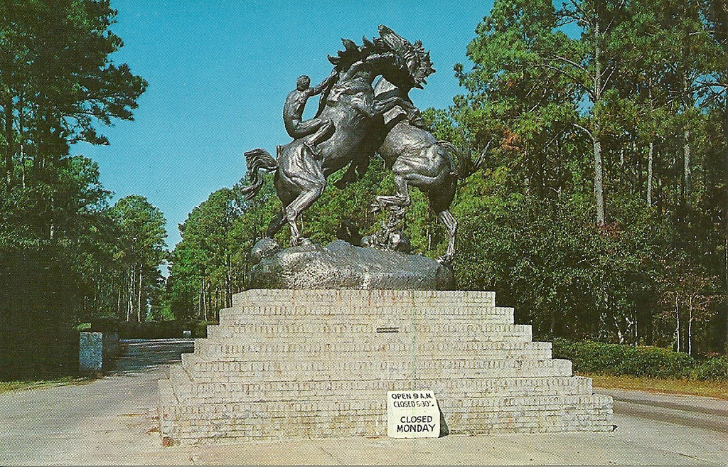 USA - South Carolina - Brookgreen Gardens - Fighting Stallions Postcard