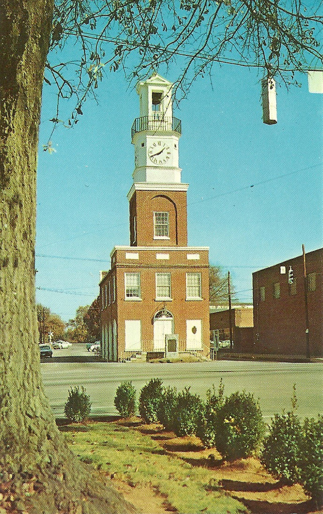 USA - South Carolina - Winnsboro - Clock Tower Postcard