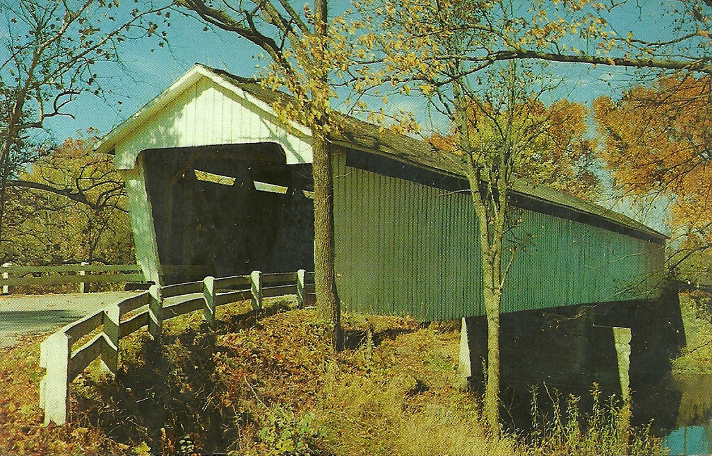 USA - Indiana - Darlington - Covered Bridge Postcard