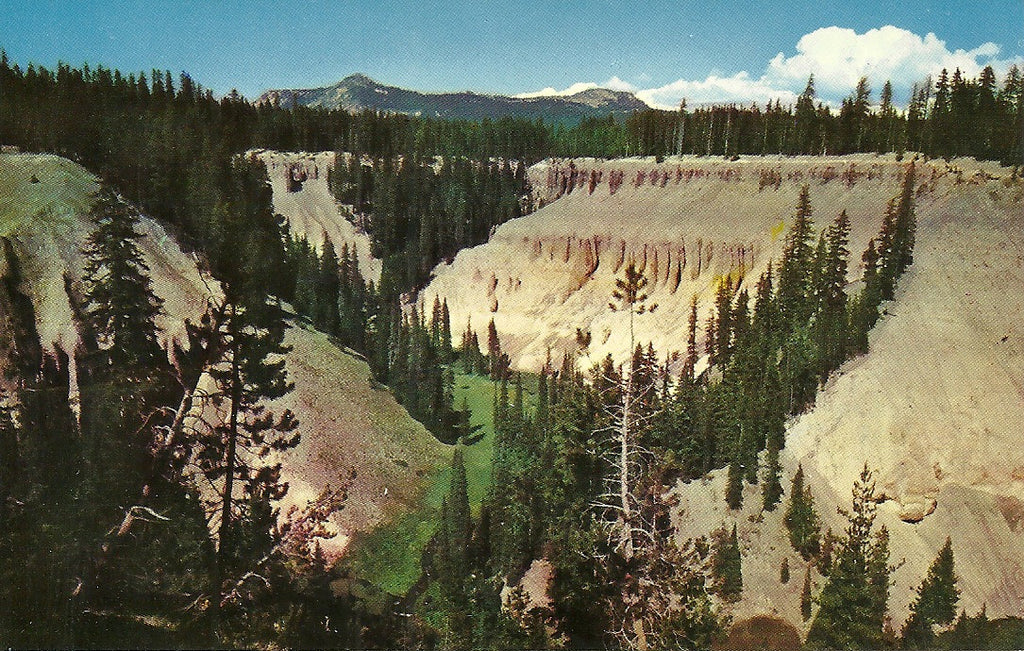 USA - Oregon - Crater Lake - Godfrey Glen and the Colonades Postcard