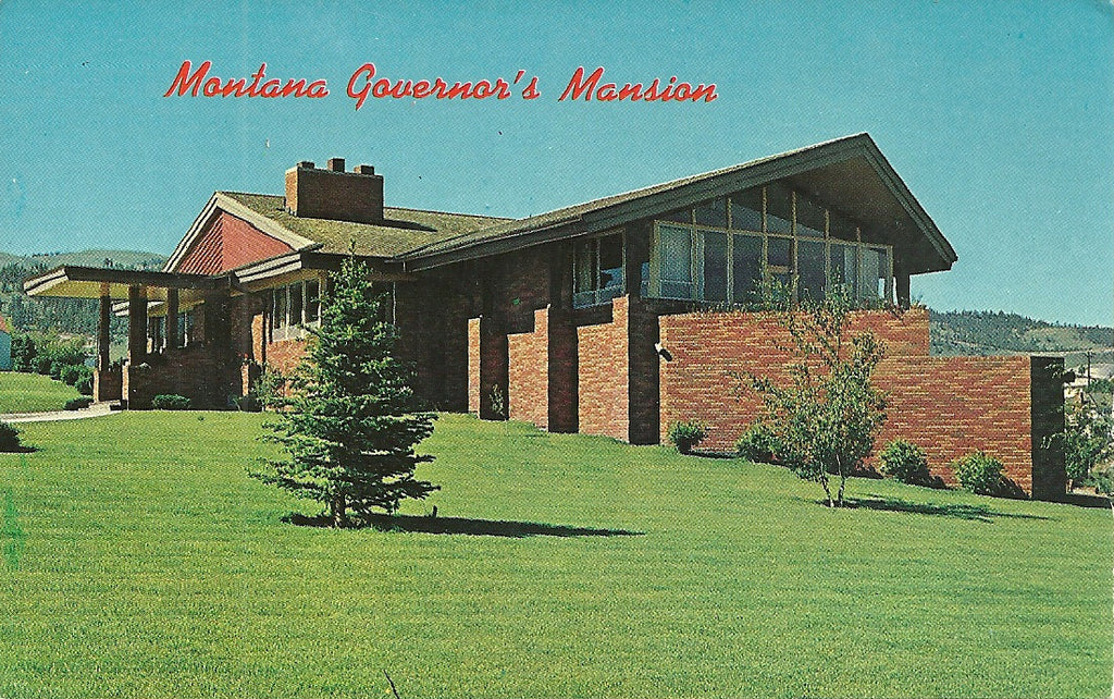 USA - Montana - Helena - Governor's Mansion Postcard