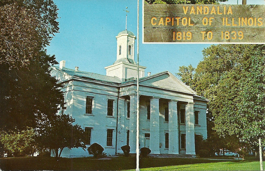 USA - Illinois - Vandalia - State House Building Postcard