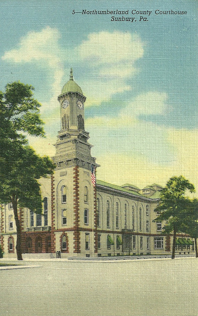 USA - Pennsylvania - Sunbury - Northumberland County Courthouse Postcard