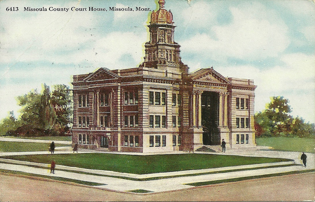 USA - Montana - Missoula - Missoula County Courthouse Postcard