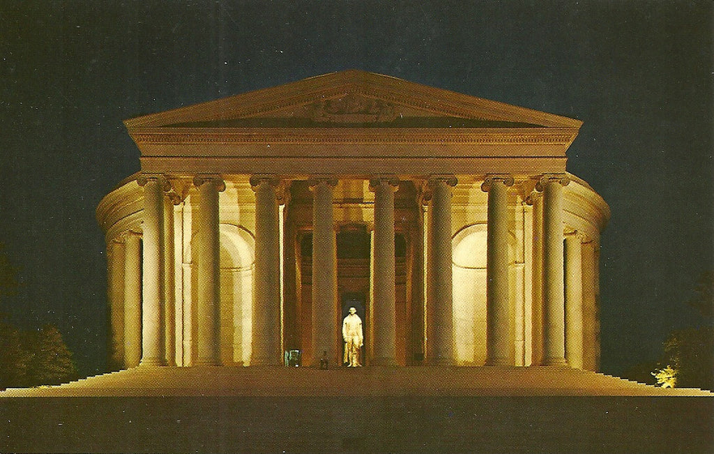 USA - Washington, DC - Jefferson Memorial at Night Postcard