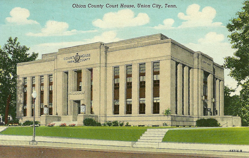 USA - Tennessee - Union City - Obion County Courthouse Postcard